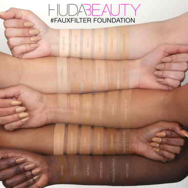 Swatches de Huda Beauty Faux Filter